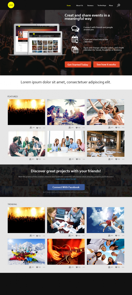 Ventagram Website Mockup
